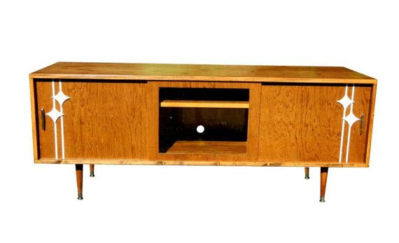 mid century inspired danish modern tv stand by orwadesigns on etsy stuff to buy. Black Bedroom Furniture Sets. Home Design Ideas