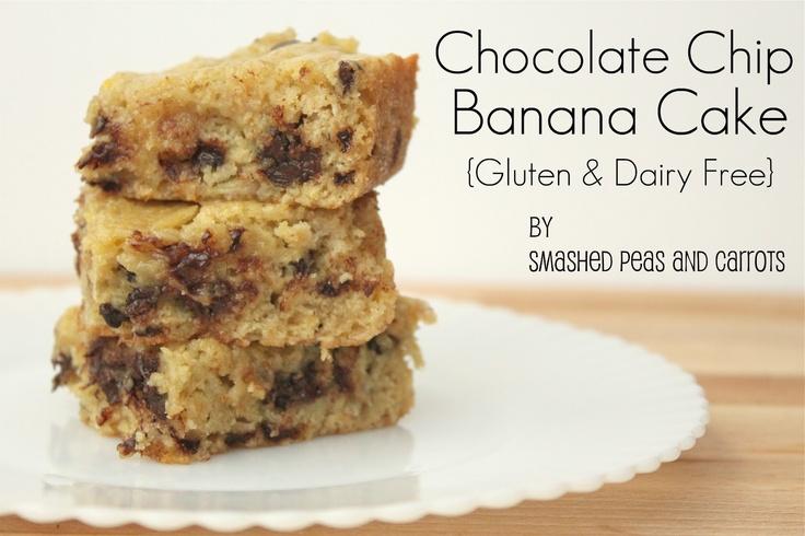 Chocolate Chip Banana Cake {Gluten & Diary Free Versions too!}