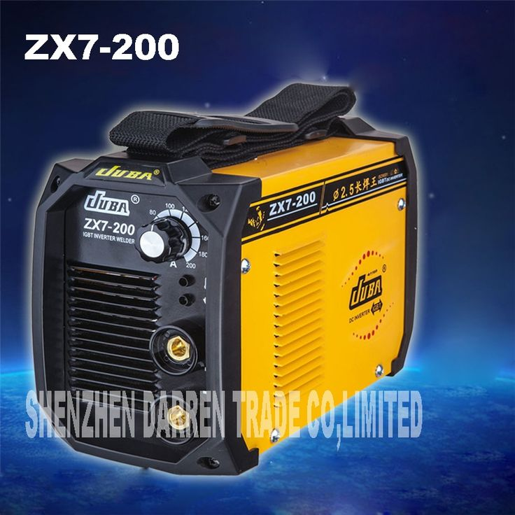 103.25$  Watch now - http://alir9c.worldwells.pw/go.php?t=32783103127 - 2pcs new portable  welder IGBT inverter portable welding machine  arc welder ZX7-200 with electrode holder and earth clamp 103.25$