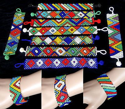 African zulu jewellery beaded #bracelet #bangle #ladies hand made bright colours, View more on the LINK: http://www.zeppy.io/product/gb/2/122012833382/