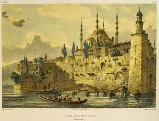 OĞUZ TOPOĞLU : eugéne flandin istanbul surları gravürleri. Murailles, Constantinople