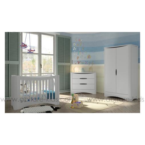 Beautiful lit bb x cm blanc de la collection fusion chez for Lit bebe petit espace