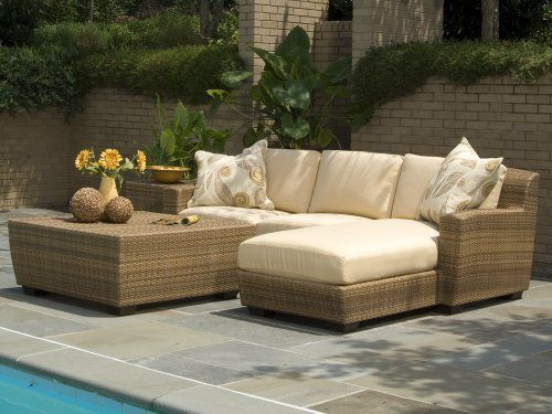 Whitecraft Saddleback Wicker 4 Piece Sectional Package By Whitecraft 4141 76 100 Hdpe