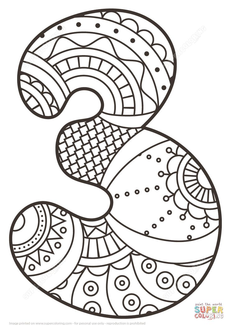 11 best mandalas numbers images on Pinterest Coloring pages