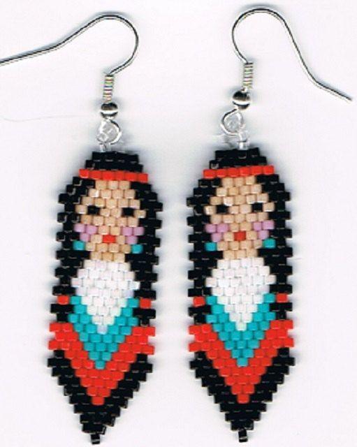 Aquí es un precioso par de pendientes colgantes nativo americano inspirado indio Maiden. Miden 1/2 x 2. Son en plata sobre los alambres del oído de