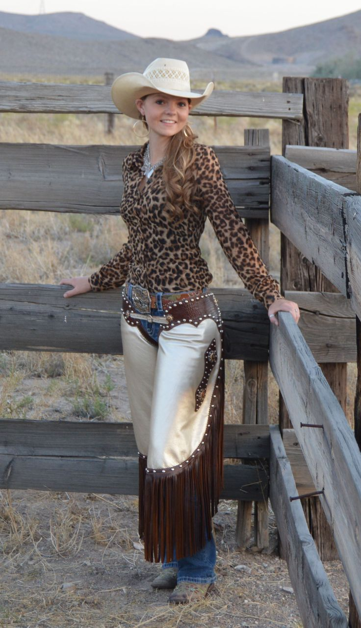 Girl western girls with chaps