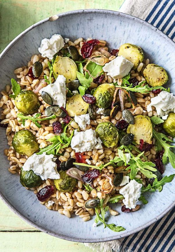 Bountiful Barley Bowl With Roasted Brussels Sprouts And Pepitas