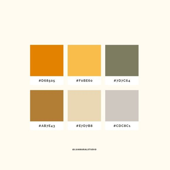 Instagram Feed Aesthetic All Yellow Lu Amaral Studio In 2020 Earth Colour Palette Color Palette Yellow Color Palette Design