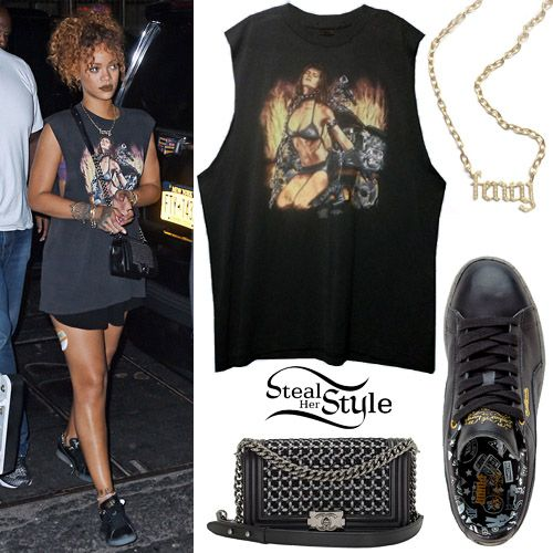 Rihanna arriving at Travis Scott's concert at the 'Gramercy Theater' in NYC. August 8th, 2015 - photo: PacificCoastNews