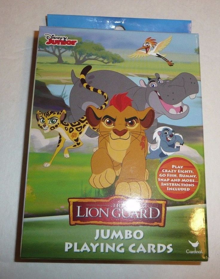 The Lion Guard Jumbo Childrens Playing Cards  Kids Disney Junior Lion King Movie #Cardinal