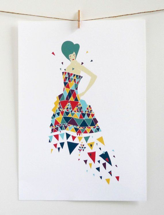 lauraamiss: Laura Amiss, Graphics Art, Lauraamiss, Art Prints, Triangles Art, Triangles Lady, Triangle Art, Fashion Illustrations, Trianglesgraph Design