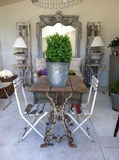 Antique Table Wood & Iron: from ATELIER DE CAMPAGNE: