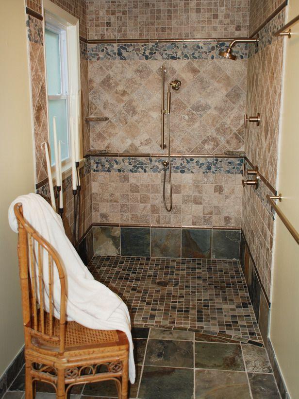 walk in showerOpen Shower, Bathroom Interior Design, Modern Bathroom, Bathroom Designs, Bathroom Interiors Design, Bathroom Decor, Bath Ideas, Design Bathroom, Walks In