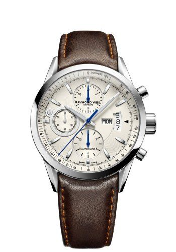 Raymond Weil 7730-STC-65021 Freelancer Brown Leather Strap Watch