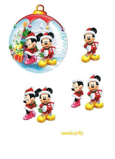 Mickey Mouse christmas bauble 3D decoupage