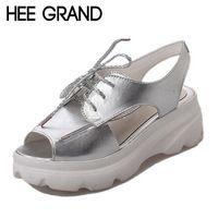 HEE GRAND Модные босоножки, Сандалии Пятки Летняя Обувь Женщина Клин Сандалии Платформы XWZ4138