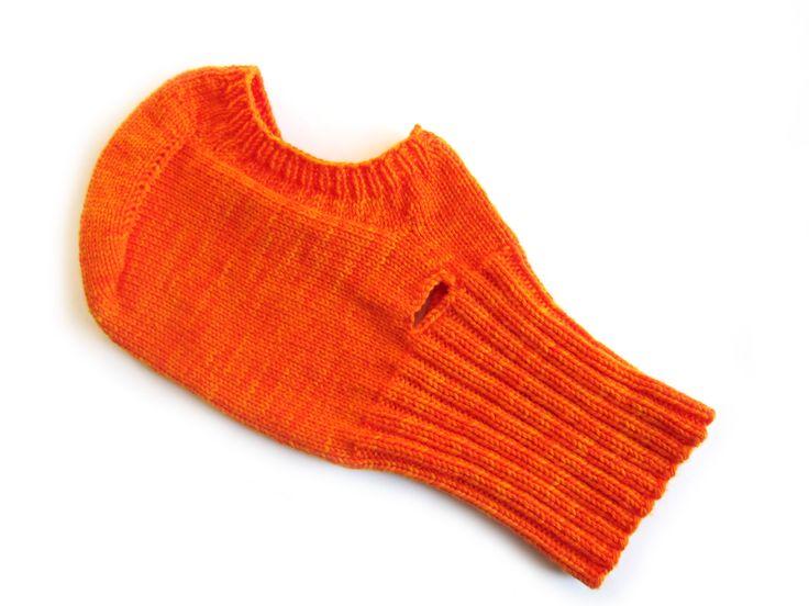 Оранжевый вязаный подшлемник