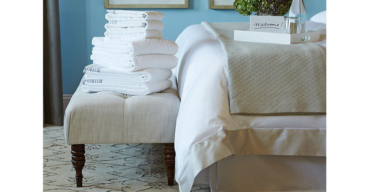 Whether it's a planned trip or a last-minute visit, chances are  you have visitors headed your way this season. With this collection  of classic sheeting, quilts, and more, you'll be prepared to  host friends and family in style—and they'll feel right at home.