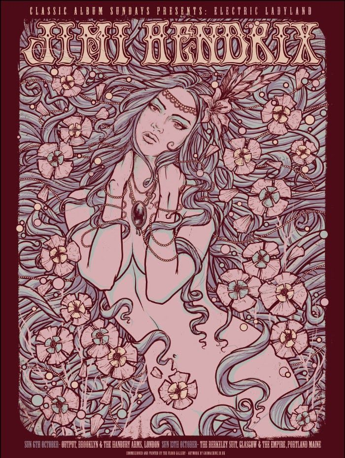 Jimi Hendrix Godmachine Electric Ladyland Poster