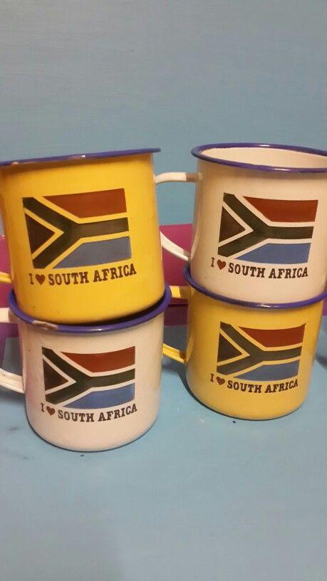 South Africa enamel mugs