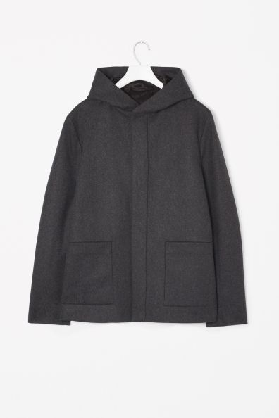 COS Wool mix hoaded jacket