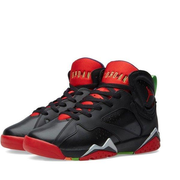 Nike Jordan Brand Nike Air Jordan VII Retro BG 'Marvin The Martian' ($135) ❤ liked on Polyvore featuring mens, men's shoes, men's sneakers, shoes and jordans