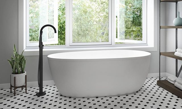 Introducing The Chic Stretto Freestanding Bathtub Featuring A