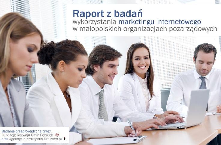 Raport z badań wykorzystania marketingu internetowego w małopolskich organizacjach pozarządowych, 2011    http://socialcamp.eu/wp-content/uploads/2011/02/raport-marketing-internetowy-w-organizacjach-pozarzadowych-luty-2011.pdf