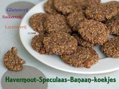 Havermout Speculaas Banaan koekjes, recept, suikervrij, glutenvrij, lactosevrij, walnoten, zoet, sinterklaas, december, zelf bakken, oven, makkelijk, kids.