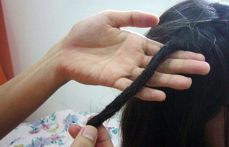 how to dread lock hair with crochet hook. @Kelsey Crockett @Lee Ann Crockett @Colleen Crockett
