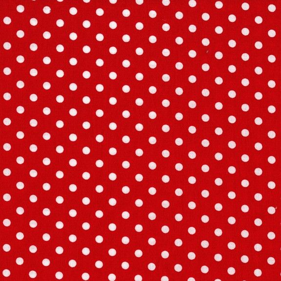 Cx2490 dumb dot rouge et noir basics dots polka dots for Warm biscuit bedding company