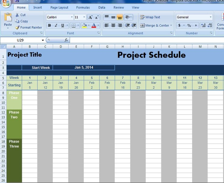 Project Schedule Template Excel | Projectemplates