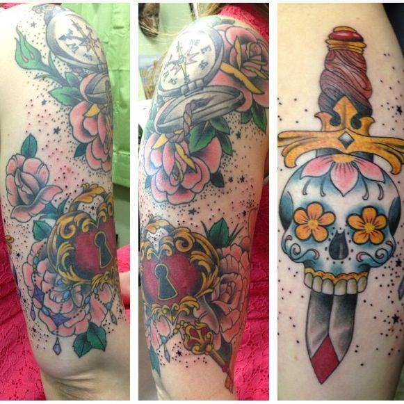 Girly Half Sleeve Tattoo Ideas: Tattoos - Girly Half-sleeve