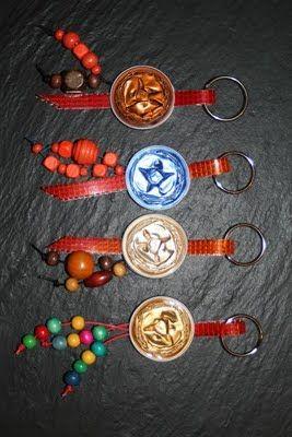 Llaveros - porta chaves criados com cápsulas da nespresso
