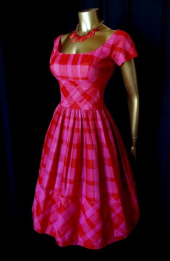 Vintage Madras Dress.