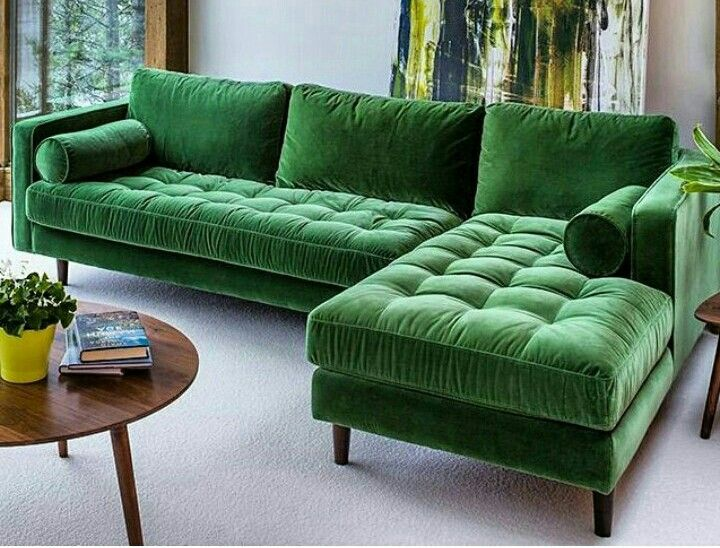 Best 25+ Green l shaped sofas ideas on Pinterest | Green i ...