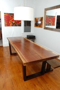Contemporary Dining Table Live Edge Table And Toronto On Pinterest