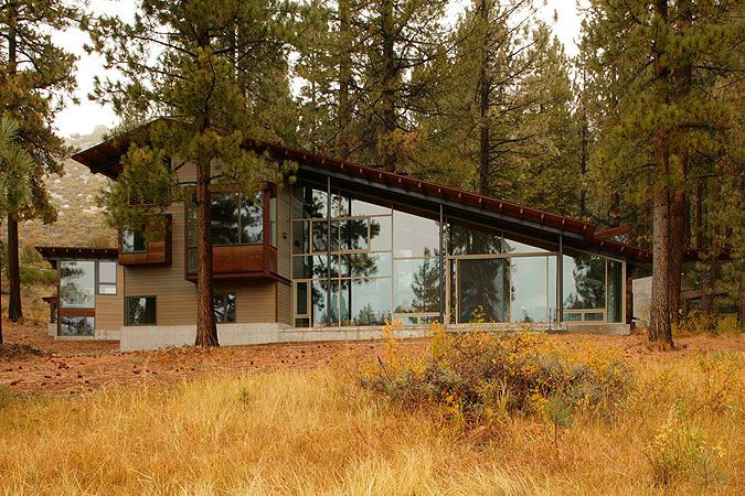 Lake tahoe residence lake flato architects cottage for Tahoe architects