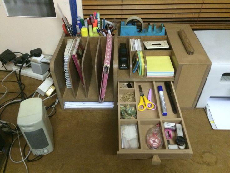 MDF desk organiser