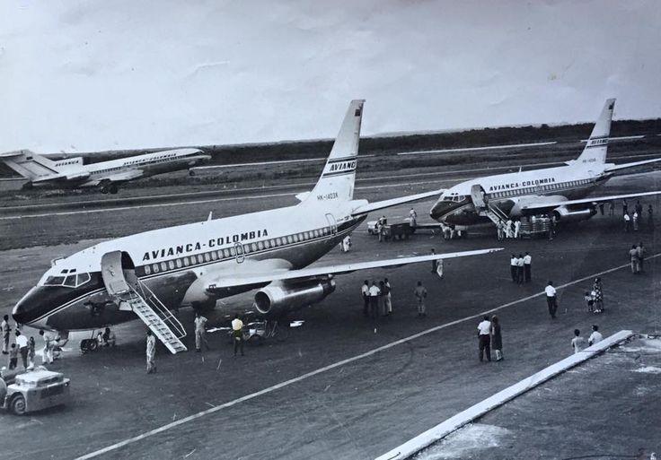Avianca Boeing 737-159 HK-1403X at SKBQ in 1970 © Álvaro Pérez