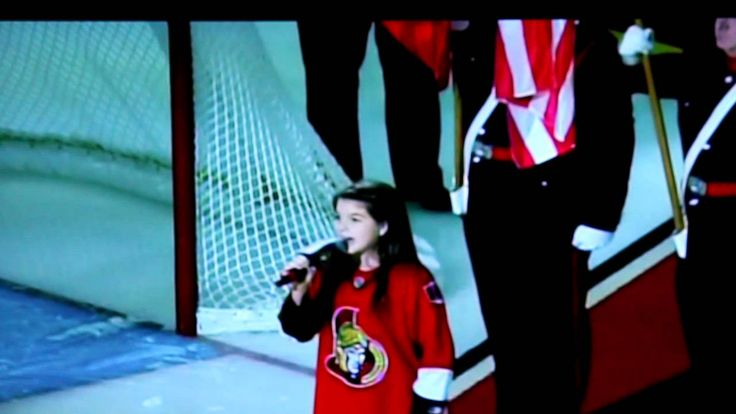 Madi Lynn sings the National Anthems for the NHL