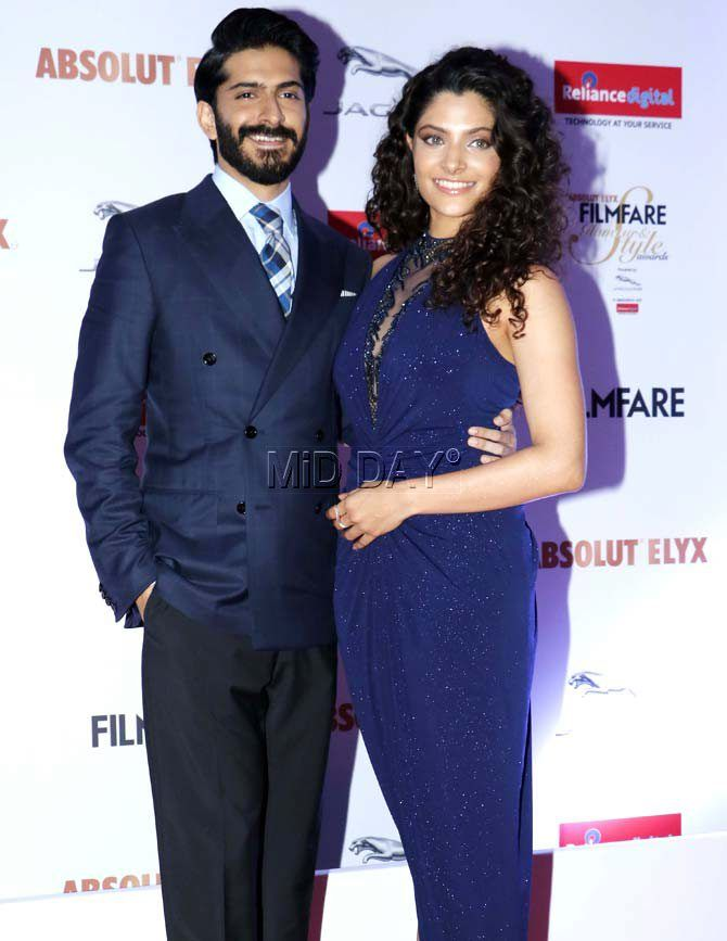 Harshvardhan Kapoor and Saiyami Kher at the Filmfare Glamour & Style Awards 2016. #Bollywood #Fashion #Style #Beauty #Hot #Sexy