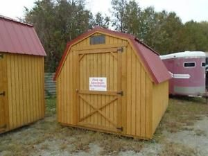 Old Hickory Buildings Job L076 8x12 Barn Metal Roof Storage Unit
