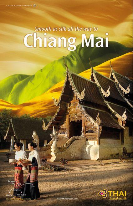 THAI Airways Destination Poster Collection by Thnadech Kummontol, via Behance