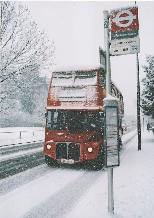 Beautiful London in the snow...or as tfl like to call it 'severe adverse weather conditions'