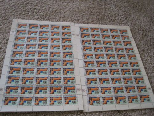 United-Nations-Two-Full-Mint-Sheets-11-Cent-Development-Programs-Stamps