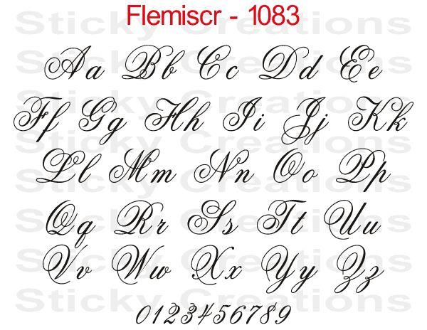 Custom fancy script lettering customized vehicle