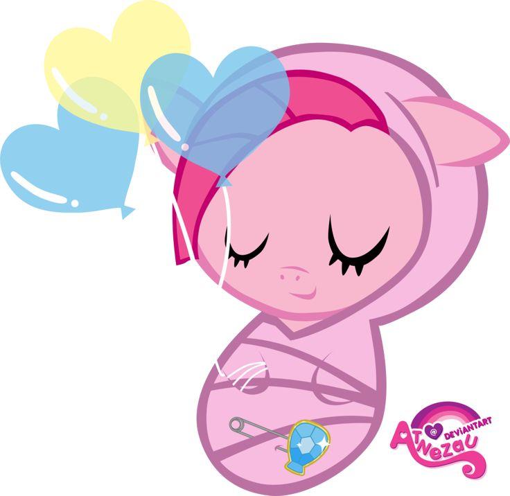 Newborn Pinkamina Pie Asleep by atnezau on deviantART