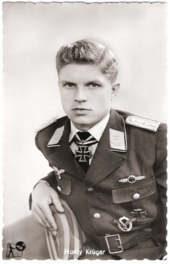 German actor Hardy Krüger as the Luftwaffe pilot