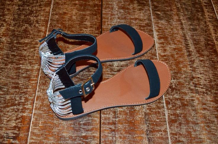 Heel Heaven Venus Sandals Black and silver sandals.  Perfect for summer!  www.heelheaven.com.au